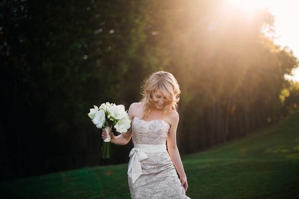 Букет невесты из белых амариллисов